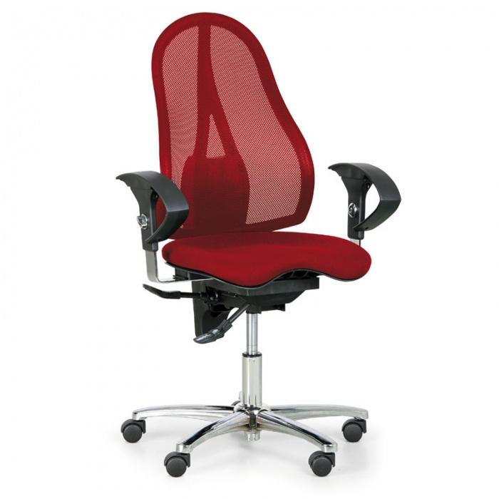 kancelarska-zidle-exeter-net-cervena-original